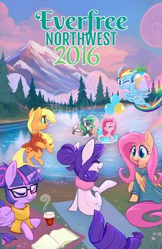 Everfree Northwest 2016 Official MLP Comic Art by Hollulu.deviantart.com on @DeviantArt