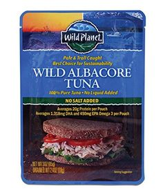 Wild Planet Albacore Tuna, No Salt, 3-Ounce Pouch ^^ Check out this great image @ : Fresh Groceries