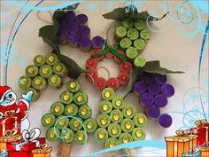 3 diferente decoraciones para el arbol de navidad con corcho (reciclado)
