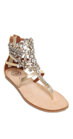 Jeffrey Campbell | Jeweled Leather Sandals