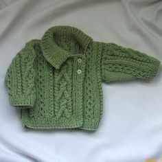 Deirdre Asymmetrical Cardigan for babies/toddlers, PDF knitting pattern by PurplePup on Etsy You're going to love Deirdre Asymmetrical Cardigan by designer Christina D.Aisling aran sweater with cross-over collar for babies or toddlers - PDF knitting Baby Knitting Patterns, Knitting For Kids, Baby Patterns, Free Knitting, Baby Cardigan, Cardigan Bebe, Cardigan Pattern, Baby Vest, Knit Baby Sweaters