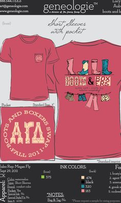 AGD Boots and Boxers - Alpha Gamma Delta