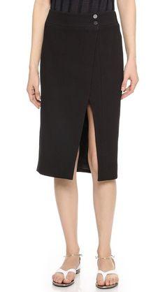 Jason Wu Slit Pencil Skirt Black   Clothing