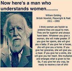 Here's a man who understands women.