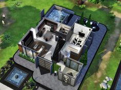 This is Magnolia! A charming home for a familly of four sims! Built on a 30x20 lot and located in Willow Creek, this house has an open plan living room attached to the kitchen, cozy dining area...