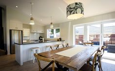 A nice space to dine with family and friends! Kit Homes, New Builds, Black And White, Dining, Building, Table, House, Furniture, Space