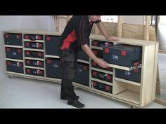 French Cleat Aufhängesystem für Werkzeuge - YouTube