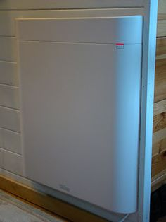 Electric Wall-mounted heater for tiny house.