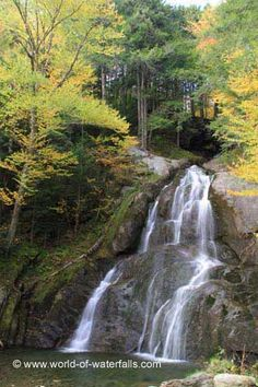 This was the view of Moss Glen Falls from the viewing deck, Addison County / White Mountain National Forest / Granville, Vermont, USA