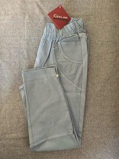 Spodnie z bengaliny Cevlar B08 kolor ciemny gołąb - Big Sister