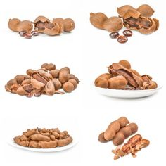 group of tamarind closeup isolated on white background