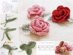 Diy crochet rose with stem free pattern videoThis free easy crochet rose pattern is the perfect project to add a little beauty to your world. It is super easy and work up quickly. It will be a perfecfabartdiy How to Crochet Pretty Lace RoseCrochet Pattern Diy Crochet Rose, Crochet Puff Flower, Crochet Ruffle, Unique Crochet, Crochet Girls, Crochet Flower Patterns, Afghan Crochet Patterns, Crochet Motif, Beautiful Crochet
