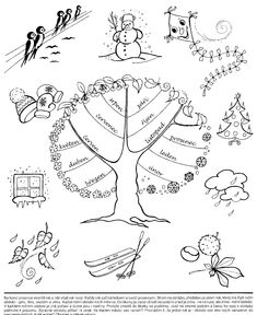 Příroda všemi smysly: ledna 2014 Weather For Kids, Weather Art, Weather Seasons, Elementary Science, Science For Kids, Seasons Of The Year, Four Seasons, Free Coloring Pages, Coloring Books