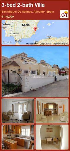3-bed 2-bath Villa in San Miguel De Salinas, Alicante, Spain ►€140,000 #PropertyForSaleInSpain