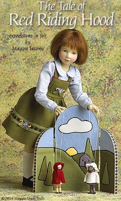 The Tail of Red Riding hood 17.5 Inch Tall Felt Doll Edition Size: 70 Created in 2004