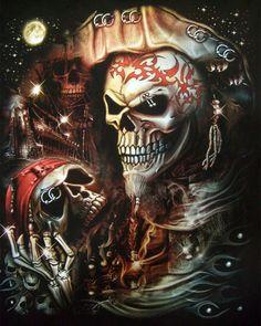 3D Piercing Pirate Skull