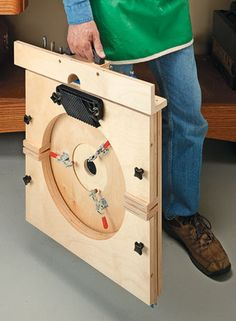 A briefcase-sized package transforms into a full-featured benchtop router table in minutes.