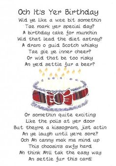 Scottish engagement gifts google search jean pinterest scottish birthday card cake poem click image to close m4hsunfo