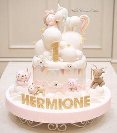ideas birthday cake girls pink fondant for 2019 1st Birthday Cake For Girls, First Birthday Cakes, Fondant Cakes, Cupcake Cakes, Super Torte, Cupcakes Decorados, Pony Cake, Baby Girl Cakes, Order Cake