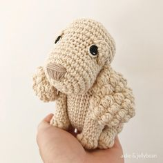 AMIGURUMI PATTERN/ TUTORIAL - Sophie the Spaniel Puppy IMPORTANT NOTE: This is a PATTERN for making an amigurumi Spaniel and NOT the finished product. The PDF is only available in English. US crochet terminology is used. *The finished item is also available from my shop :)