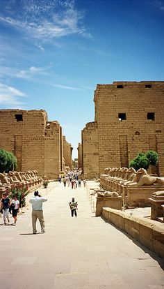 Great temple of Amun at Karnak, Luxor, Egypt.