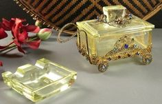 Jeweled Cigarette Buggy Box with Ashtray // by Successionary