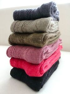 BRAND NEW -   WOMEN WOOL SOCKS   6 different colors lot  Material :  %100 Wool  The price 15.99 USD. is for 6 pairs of socks.