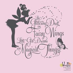 Fairy Dust and Little Girl Dreams kids wall by wordybirdstudios