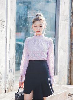 フリルプチハイネックレースブラウス - 《公式》Chuu(チュー)レディースファッション通販!