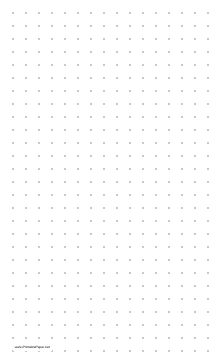 This dot paper is on legal-sized paper in portrait (vertical) orientation and has two dots per inch. Free to download and print