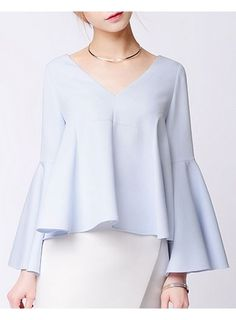 AKITH Flared Sleeves Top@ shopjessicabuurman.com