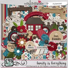Family is Everything - digital scrapbooking kit from Creations By Samantha. This beautiful kit is perfect to scrap all your beautiful moments gathering with your family and friends. Time spend with our loved ones is the most precious time and this kit will help you to document   those special moments.