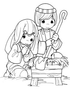 Precious Moments Coloring Pages. Welcome to the precious moments coloring pages! By the way, do you know what the precious moments coloring pages are? Nativity Coloring Pages, Jesus Coloring Pages, Coloring Pages To Print, Free Printable Coloring Pages, Coloring Book Pages, Coloring Pages For Kids, Kids Coloring, Free Printables, Adult Coloring