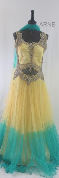 Check out this beautiful Dress!#newarrival #indiaYellow Green Anarkali  http://www.arneus.com/dresses/yellow-green-anarkali