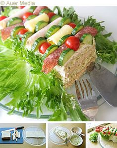 Sandwich Cake, Sandwiches, Yummy Food, Tasty, Russian Recipes, Savoury Cake, Cheesecakes, Food Art, Great Recipes
