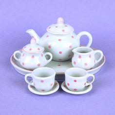 Doll Pink Polka Dot Tea Set