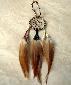 Dream Catcher  Earthy Brown Feather Dream by peacefrogdesigns, $22.00