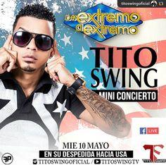 """HOY se enciende la televisión Dominicana con """"El Ma Loco Eh Toooo'... TITO SWING!!!! Despedida a USA en DE EXTREMO S EXTREMO!!! #GPRepost#reposter#notetag @titoswingoficial via @RepostApp ======> @titoswingoficial:Miércoles 10.  Transmisión en vivo por mi pagina de facebook.  #usatour2017.  Separa tu fecha con tiempo @andujarmusic1 @managervip1 @wilmerlacremaoficial  @djaneudy @djchulojay @oyemerengue"""