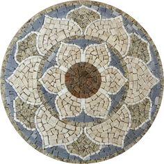 mandalas em mosaico - Pesquisa Google..............Wonderful color-combo!
