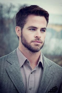 Chris Pine has the best example of the perfect shade of blue eyes