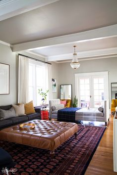 So pretty (the chaise is really the palest of grays) : The Makerista: Laura's Living Room: Addressing the Form and the Function