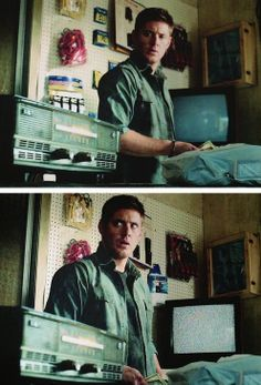 I love his face in the second photo. 4x01 Lazarus Rising #SPNS4 #Dean