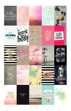 Printed Stickers Inspirational Themed Pictures and Quote, Erin Condren, Filofax, Planner, Plum Planner