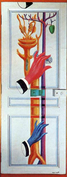 Enter, Exit by Max Ernst, 1923. Oil on canvas, 205 x 80 cm. Kawamura Memorial Museum of Art, Tokyo, Japan.