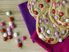 Giant M&M Cookies Recipe : Decorating : Home & Garden Television ----- Great idea for the kiddos and I :-)