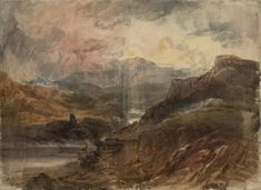 Joseph Mallord William Turner 'Dolbadarn and the Pass of Llanberis', c.1799–1800 - Graphite and watercolour on paper -  Dimensions Support: 549 x 758 mm -  Collection -  Tate