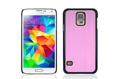 Brushed Aluminum Plastic Snap on Hybrid Protector Cases for Samsung Galaxy S5 | Lagoo Tech