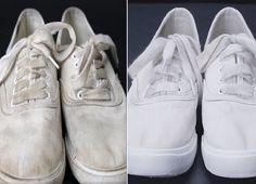 Белая обувь будет всегда выглядеть аккуратно, если ты будешь использовать этот простейший трюк для ее очищения хотя бы 1 раз в 2 недели. Это исправляет ситуацию, когда белые кеды не предназначены для стирки в машинке! Волшебное средство, которое содержит всего 3 ингредиента, обновит ткань обуви. Вернуть безупречное состояние резиновой подошве тоже совсем нетрудно: ты можешь