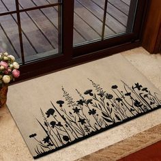 Floral Doormat Plant Doormat Plant Lady Doormat Farmhouse | Etsy Gifts For Husband, Fathers Day Gifts, Jeep Gifts, Jeep Baby, Student Teacher Gifts, Front Door Mats, Camping Blanket, Funny Doormats