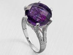 #Amethyst and white #topaz cocktail ring